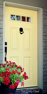 17 best ideas about yellow doors yellow front doors bright and breezy bee s wax sw 7682 is a perfect way spruce up your front door