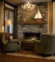 stone fireplaces 3 rustic country cabins gorgeous wall fireplace in this well put together interior pictures