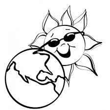 Disegno Di La Terra E Il Sole Da Colorare Per Bambini