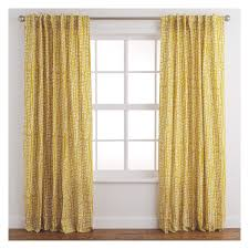 Yellow Patterned Curtains