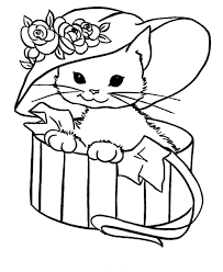 Small Picture happy cute cat coloring pages best gallery coloring design ideas