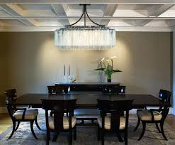 lighting large rectangular crystal chandelier perfect dining room peaceful 10