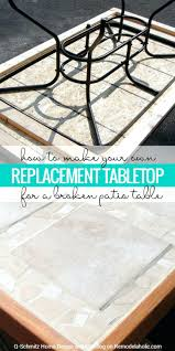 Tile Table Tops Broken Patio Top No Problem Make Your Own Replacement  Tabletop With Some Lumber