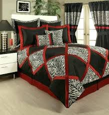 red black comforter details about lush red white black animal print pieced comforter set queen king cal king red black and white comforter sets king