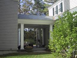 i like the idea of having a breezeway from house to garage breezeway garage office