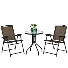 costway 3 piece outdoor bistro set