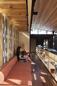 Reading Room In House Furniture Natural Under Pohutukawa House In Piha New Zealand