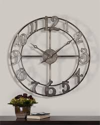 Small Picture Extra Large Distressed White Metal Roman Numeral Clock Roman