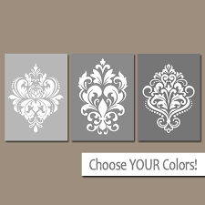 contemporary damask wall art best design interior like this item canvas decals stickers prints wood stencil fabric on damask wood wall art with contemporary damask wall art best design interior like this item