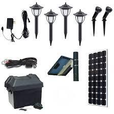 solscape 3x solar landscape lighting kit landscape spotlight fixtures