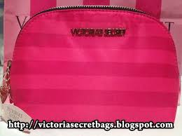 victoria s secret large pink stripe nylon makeup pouch 32 90