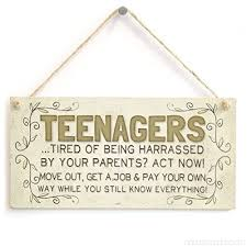 decorative signs with sayings teenagers