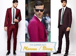 The Summer Suit: Maroon/Berry