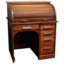 solid oak roll top desk s solid recessed panels and five drawers