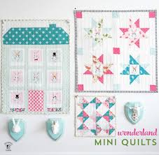Mini Quilt Patterns Mesmerizing New Wonderland Mini Quilt Patterns The Polka Dot Chair