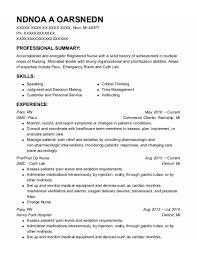 Emergency Room Rn Resume Best Pacu Rn Resumes Resumehelp