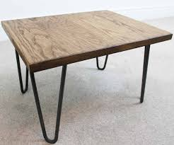 Industrial Coffee Table Trace Hairpin Industrial Coffee Table Russell Oak And Steel Ltd