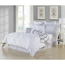 duck river esy pintuck reversible white 8 piece queen comforter set esy 10520d 1 the home depot