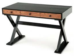 contemporary wood office furniture. Small Desk Custom Sizes Eclectic Modern Chic Wood X Base Regarding Wooden Desks Inspirations 7 Contemporary Office Furniture