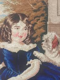 antique art old tapestry framed wall
