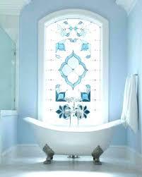 light blue bathroom tiles baby blue bathroom stained glass window in the bathroom light blue floor