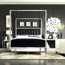 Queen Canopy Bed Frame Black Wood Size Canada Twin Plans