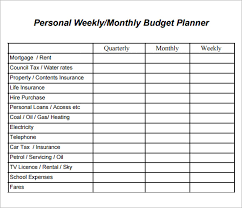 Budget Layout Example Sample Of Printable Budget Planner Download Them Or Print