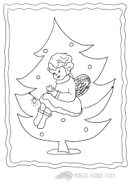 Christmas Angel Coloring Page 1 This