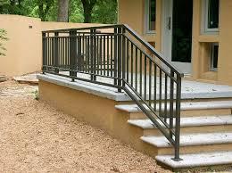 Stair design ideas stair landing curved landing. Exterior Railing Gainesville Iron Works Outdoor Stair Railing Railings Outdoor Exterior Stairs