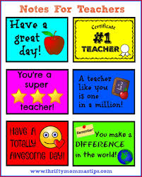 Teacher Appreciation Week Free Printables Thrifty Mommas Tips