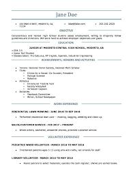 High School Resume Template College Work Experience Write