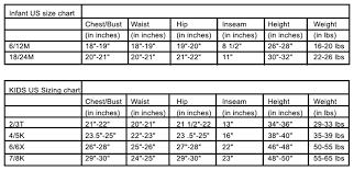 Kids Dress Size Chart Comdined Chart Rhf Designs
