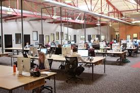open floor office.  floor as a company that started in spare bedroom with two friends this new  space also made their whole team feel like they had finally it with open floor office