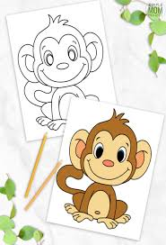Monkey coloring sheets are both fun and educational. Cute Baby Monkey Coloring Page For Kids Simple Mom Project