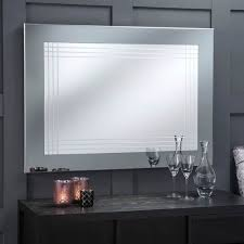 Framed modern mirror Modern Style Wall Allmodern Large Grey Framed Contemporary Wall Mirror Modern Mirror