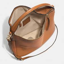 BLEECKER sullivan hobo in pebbled leather GOLD BURNT CAMEL 31623