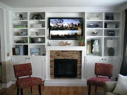 glowing electric fireplace wood hearth mantel shelves emerson with bookcases sei tennyson electric fireplace