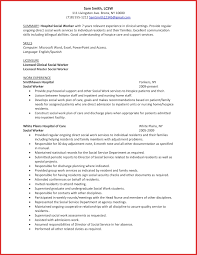 Awesome Social Work Resume Types Of Letter