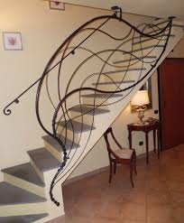 unique design of wrought iron stair railing with tread ideas also tile  flooring