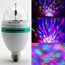 Rotating Led Disco Light Bulb Details About E27 3w Rgb Crystal Ball Auto Rotating Led Stage Light Bulb Disco Party Bulb Lamp