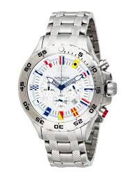 nautica men s nst chronograph flags watch watch review nautica nst chrono flags metal front view