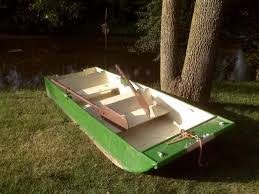 wooden flat bottom boat