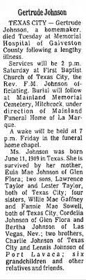 Obituary for Gertrude Johnson - Newspapers.com