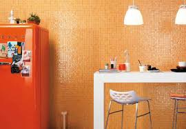Small Picture Modern Interiors with Mosaic Tiles Creating Color Mood with Wall