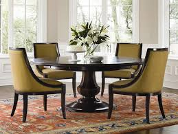 image of wooden round pedestal dining table