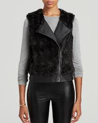 black fur vests sanctuary faux fur moto vest