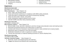 Warehouse Worker Job Description For Resume Warehouse Associate