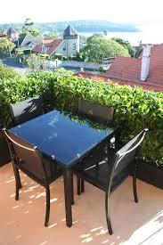 small terrace furniture. avalon black aluminium table petite retreat small balcony furniture perfect for a space terrace l