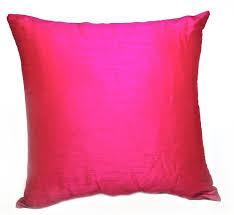 fuschia silk pillow