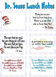 dr seuss lunch notes back to school